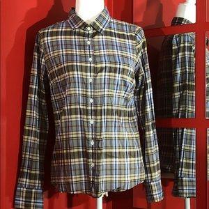 JCrew Plaid Button sown Shirt